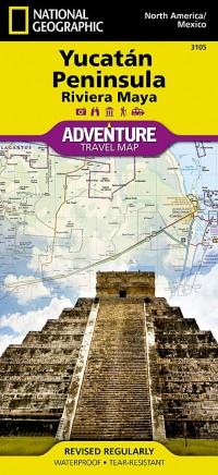 מפה NG יוקטאן פנינסולה / אתרי המאיה, מקסיקו