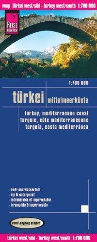 מפה WM טורקיה חופי הים התיכון