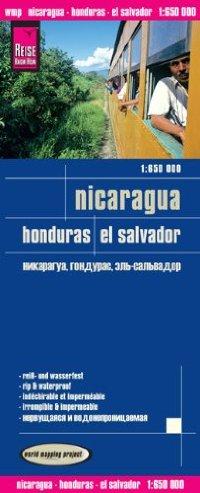 מפת ניקרגואה הונדורס אל סלבדור וורלד מפינג פרוג'קט