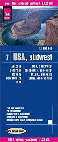 """מפת ארה""""ב 07 דרום מערב וורלד מפינג פרוג'קט"""