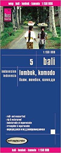 מפת אינדונזיה (5) באלי, לומבוק, קומודו וורלד מפינג פרוג'קט